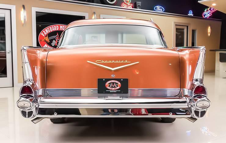 Sierra Gold 1957 Chevrolet Bel Air rear end