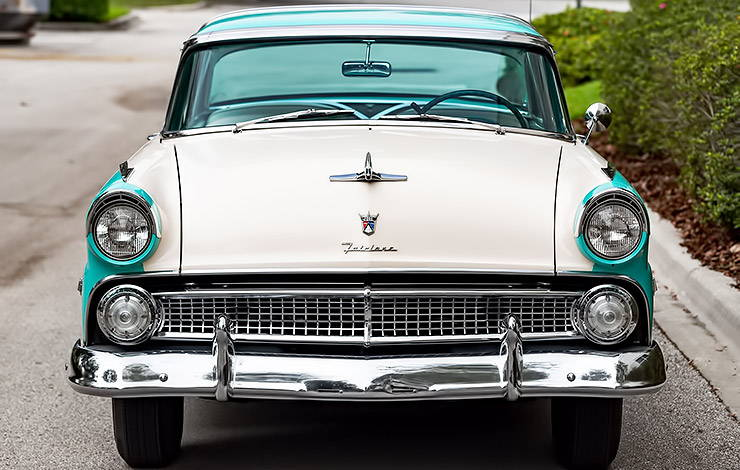 1955 Ford Fairlane Crown Victoria front end