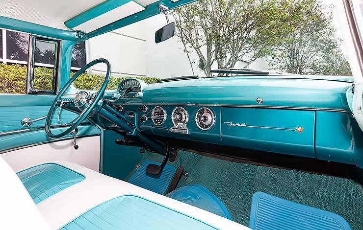 1955 Ford Fairlane Crown Victoria interior