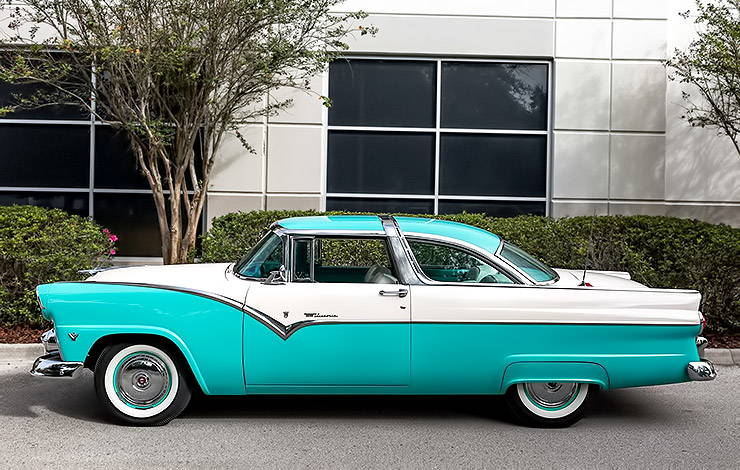 1955 Ford Fairlane Crown Victoria left side