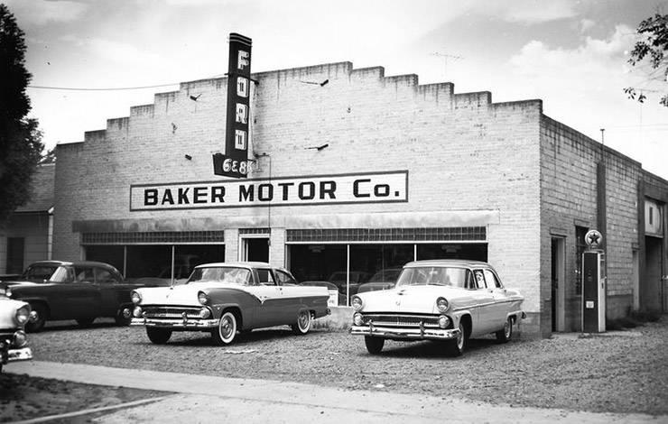 Baker Motor Co Ford dealer 1955